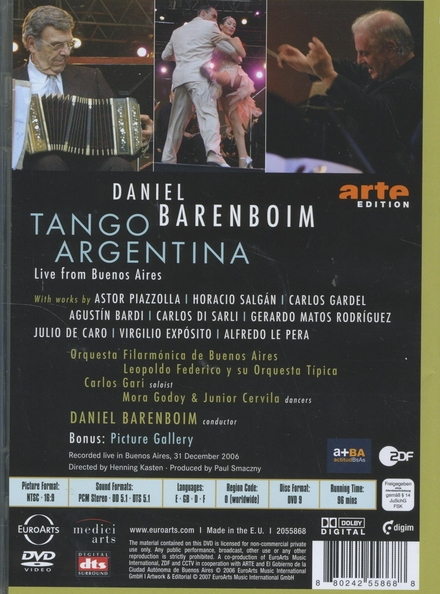Tango argentina : Live from Buenos Aires
