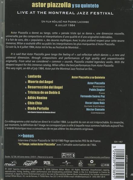 Astor Piazzolla y su quinteto : live at the Montreal jazz festival