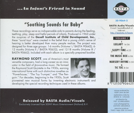 Soothing sounds for baby. Vol. 1, 1 to 6 months