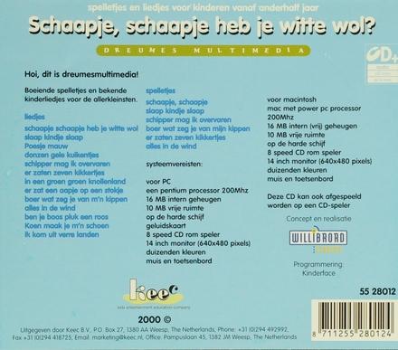 + cd rom: Schaapje Heb Je Witte... Schaapje