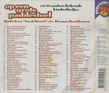 Op een grote paddestoel en 99 andere bekende kinderliedjes