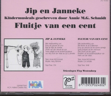 Jip en Janneke ; Fluitje van een cent : kindermusicals