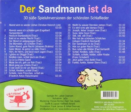 Der Sandman ist da : 30 süsse Spieluhrversionen der schönsten Schlaflieder