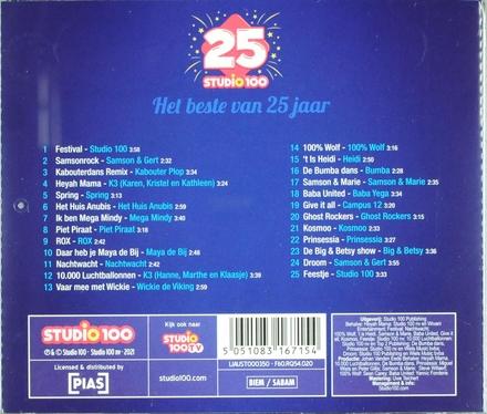 25 jaar Studio 100 : het beste van 25 jaar