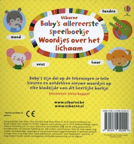 Baby's allereerste speelboekje : woordjes over het lichaam