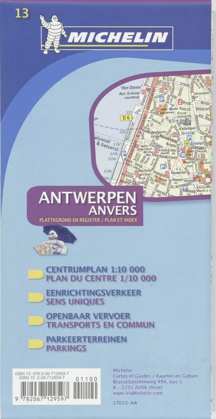 Michelin Antwerpen : plattegrond en register