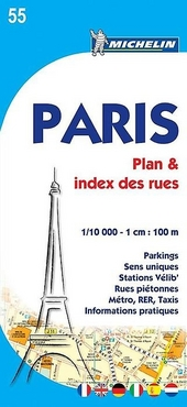 Paris : plan & index des rues