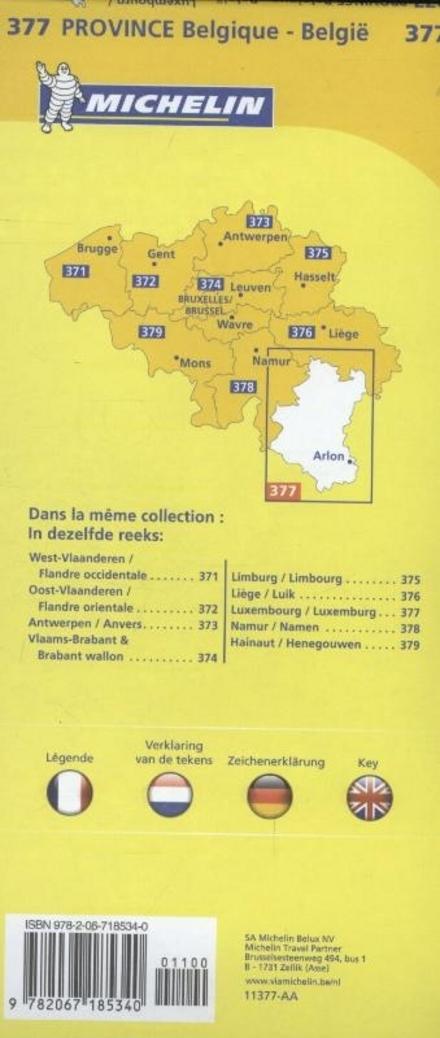 Luxembourg : carte routière et touristique