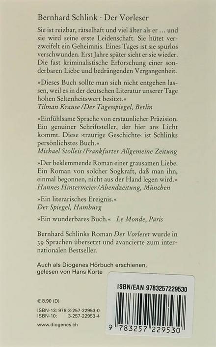 Der Vorleser : Roman