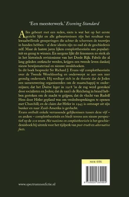 Het nazisme en complottheorieën : de paranoïde verbeelding en het Hitler-tijdperk