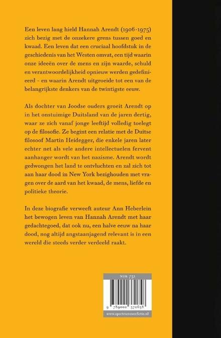 Hannah Arendt : over liefde en kwaad : de biografie