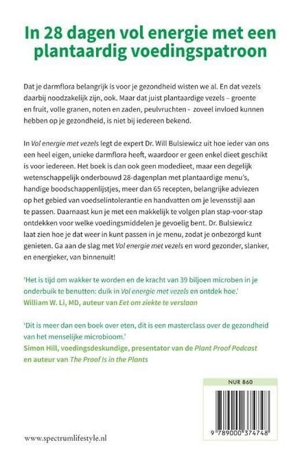 Vol energie met vezels : hét plantaardige plan voor een energiek, gezond en slank leven