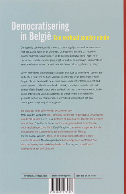 Democratisering in België : een verhaal zonder einde
