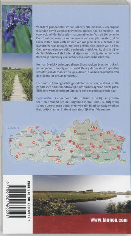 Natuurwandelboek Vlaanderen : 40 wandelingen door de mooiste natuurreservaten : praktische gids voor fauna en flora