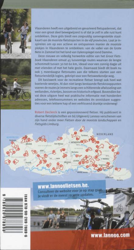 Groot fietsboek Vlaanderen : 45 lusvormige fietsroutes en 5 meerdaagse tochten
