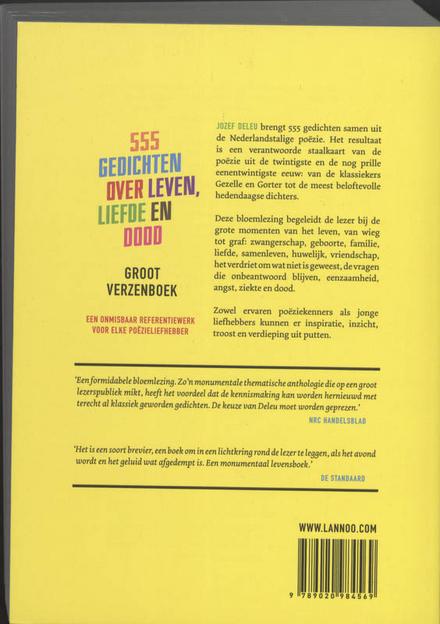 Groot verzenboek : 555 gedichten over leven, liefde en dood