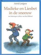 Madieke en Liesbet in de sneeuw
