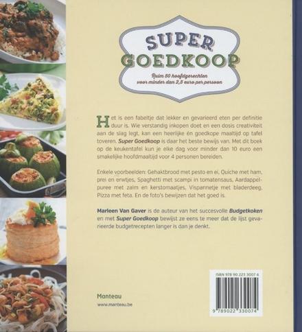 Super goedkoop : ruim 50 hoofdgerechten voor minder dan 2,5 euro per persoon