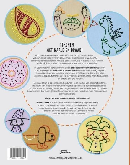 Leuke figuren borduren : leer de basissteken en kies uit meer dan 500 moderne borduurmotiefjes