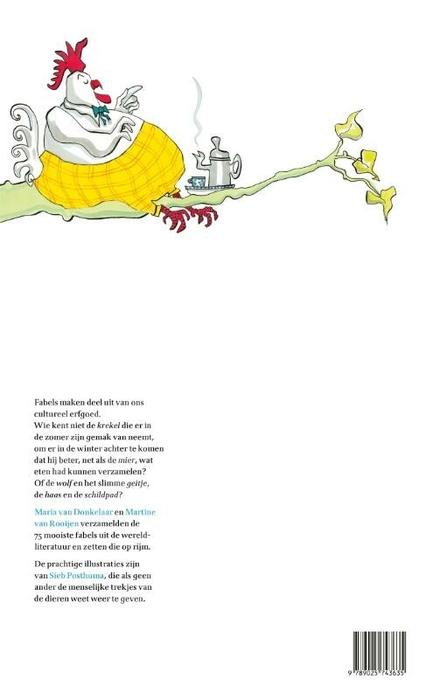 Boven in een groene linde zat een moddervette haan : de 75 mooiste fabels