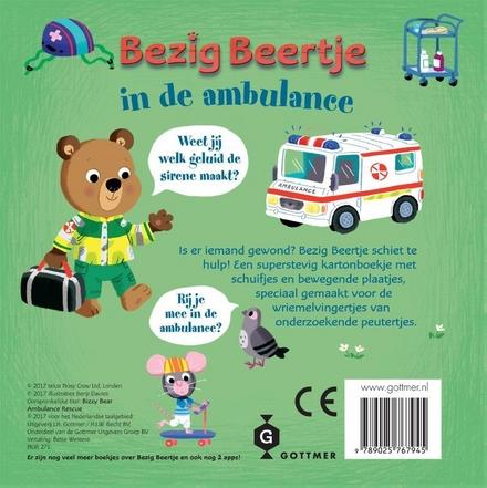 Bezig Beertje in de ambulance