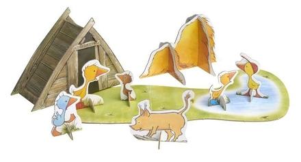 Gonnie en vriendjes spelen op de boerderij