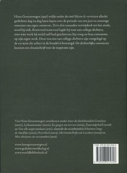 Blijven & verreizen : gedichten 17/10 t/m 24/8