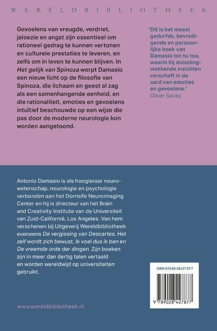 Het gelijk van Spinoza : vreugde, verdriet en het voelende brein