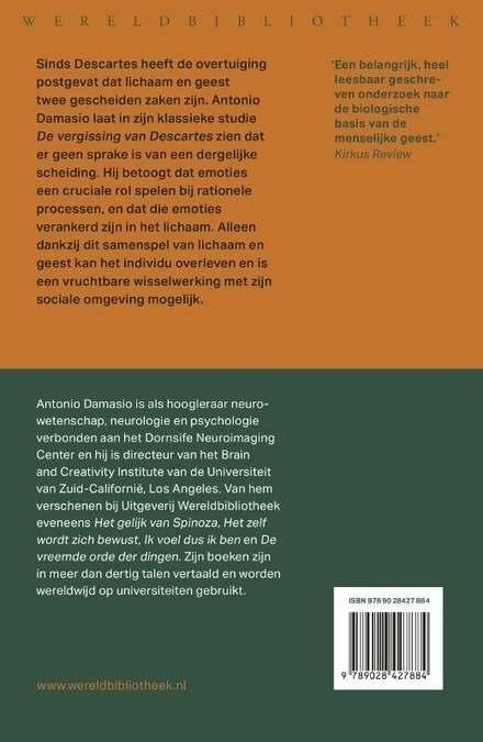 De vergissing van Descartes : gevoel, verstand en het menselijk brein