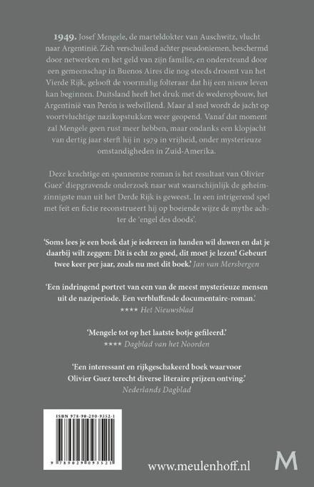 De verdwijning van Josef Mengele : roman
