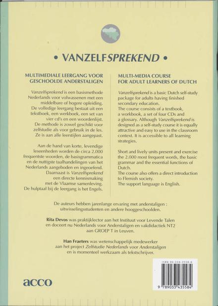 Vanzelfsprekend : Nederlands voor anderstaligen [tekstboek, werkboek, 4 cd's]