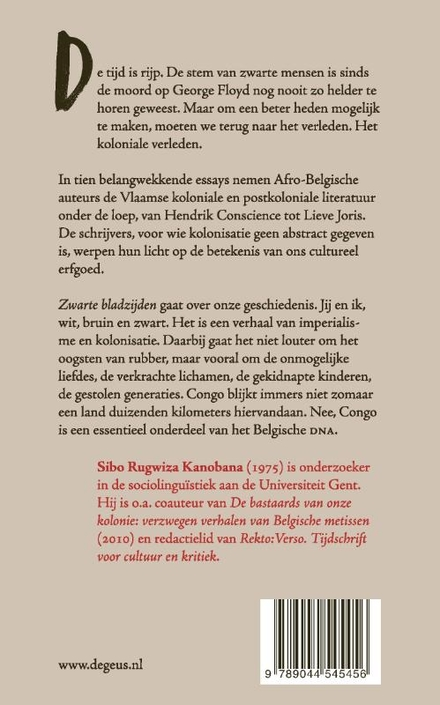 Zwarte bladzijden : Afro-Belgische reflecties op Vlaamse Congoliteratuur