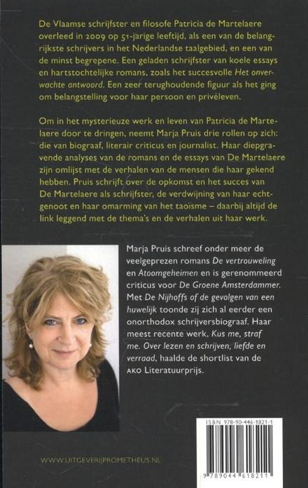 Als je weg bent : over Patricia de Martelaere
