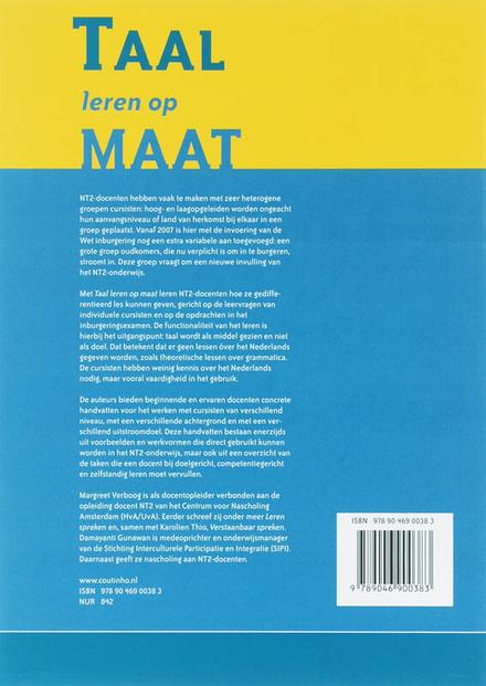 Taal leren op maat : effectief lesgeven aan NT2-cursisten