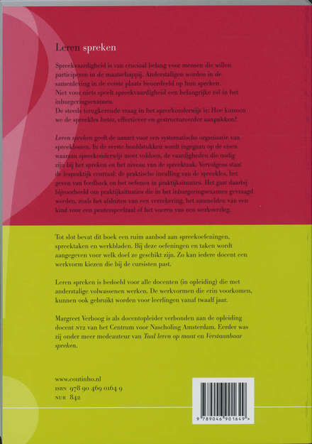 Leren spreken : een didactische handleiding voor docenten NT2
