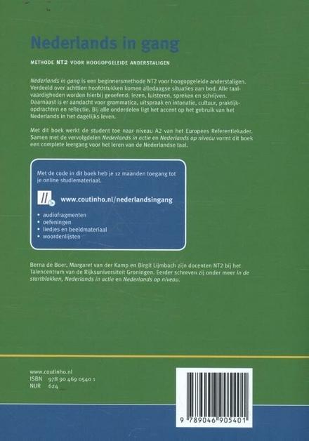 Nederlands in gang : methode NT2 voor hoogopgeleide anderstaligen