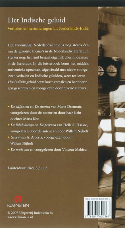 Het Indische geluid : verhalen en herinneringen uit Nederlands-Indië