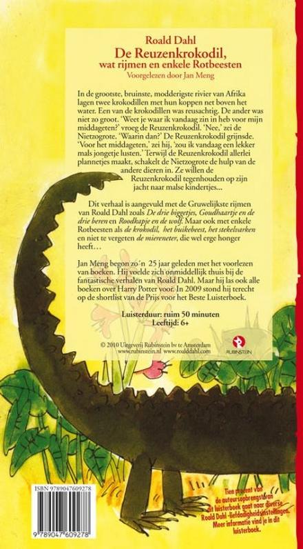 De reuzenkrokodil, wat rijmen en enkele rotbeesten