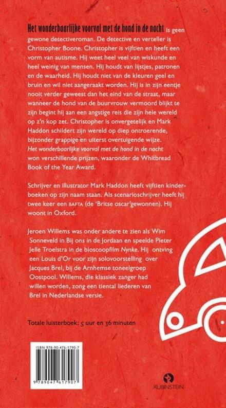 Jeroen Willems leest Het wonderbaarlijke voorval met de hond in de nacht