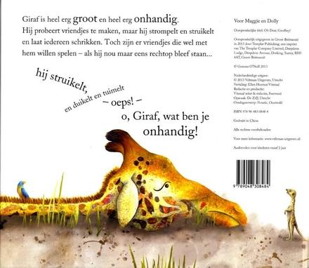 O, giraf, wat ben je onhandig!