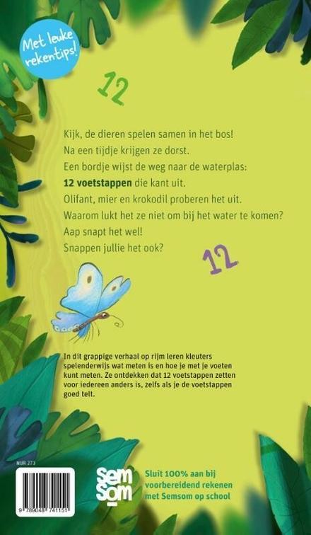 12 voetstappen? : rekenprentenboek: tel en meet je mee?