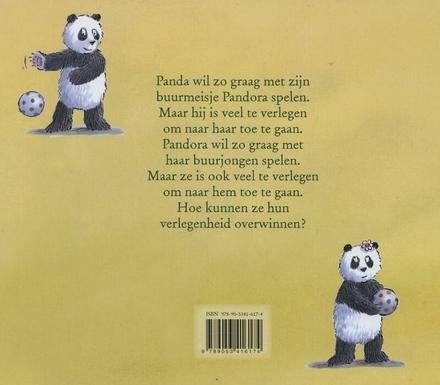 Twee verlegen panda's