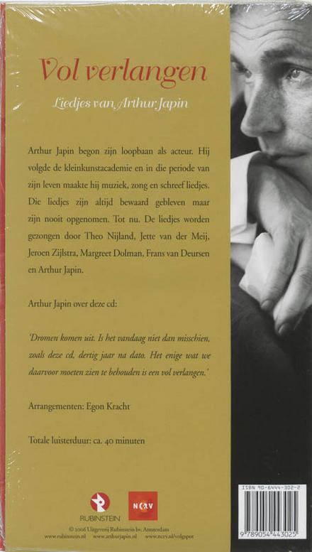 Vol verlangen : liedjes van Arthur Japin