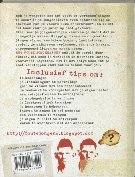 Het foute jongensboek : handleiding voor onfatsoenlijke jongens van 8 tot 88 jaar