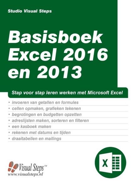 Basisboek Excel 2016 en 2013 : stap voor stap leren werken met Microsoft Excel
