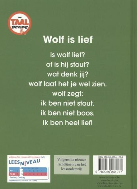 Wolf is lief