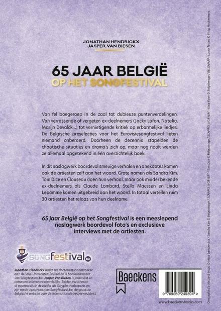 65 jaar België op het Songfestival