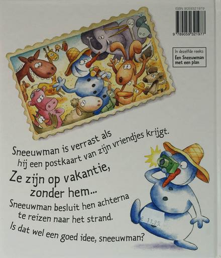 Sneeuwman gaat op reis