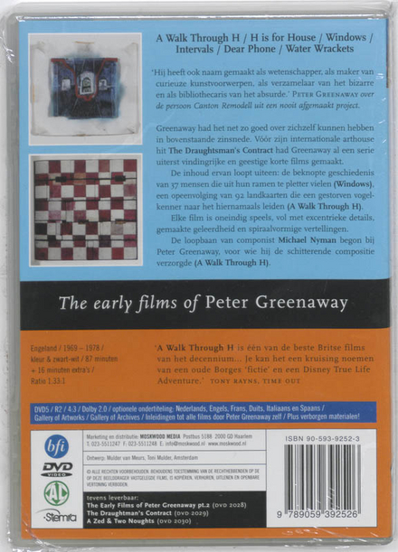 The early films of Peter Greenaway 1