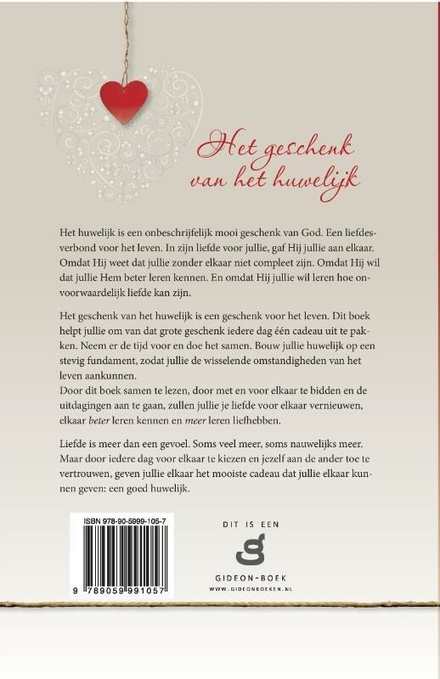 Het geschenk van het huwelijk
